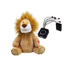 Custom plush rocking lion/singing musical lion