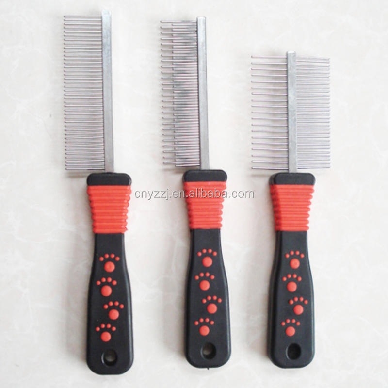 Stainless Steel Double Side Dog Cat Comb Rake Pet Hair Grooming Brush Fur Shedding Cleaning Tool