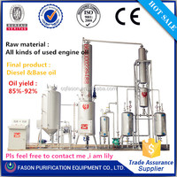 High recovery!!!used lubricating oil recycle plant for all kinds of waste engine oil