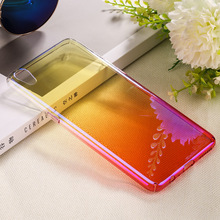 2018 Plating Ultra Thin Hard PC Gradient Color Ramp Crystal Electroplate Transparent Phone Case for iPhone X