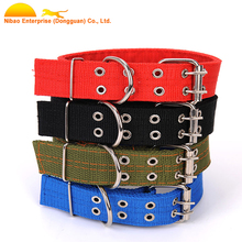 2017 Hot sale plain adjustable nylon dog collar