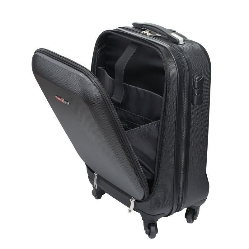 open mouth cabin luggage travel trolley waterproof suitcase
