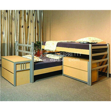 Adult Wood Bed for Two Person Heavy Duty Double Frame Bed