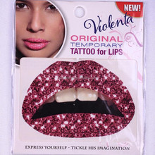 Fashion Design Bling Bling Safe and non-toxic Temporary Lip Tattoo stickers