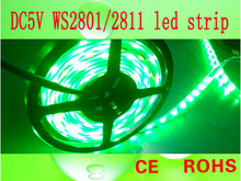 china supplier high quality and cheap price rgb flash flexible led strip with ic ws2801/ 2812control lighting (5v smd 5050 ip66)