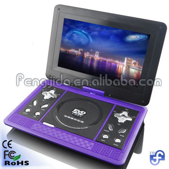 factory price 10inch portable dvd player with multiple functions