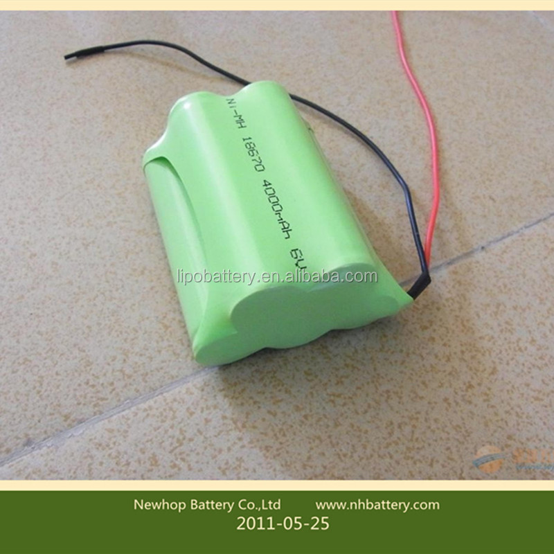 Shenzhen 6v 1800mah ni-mh rechargeable battery pack aa