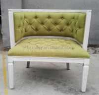 French Style Wooden Frame Upholstery furniture bedroom bed end Bench