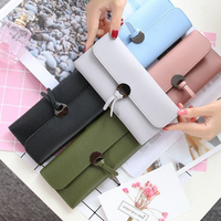 zm50804b Hot selling soft PU leather fashion women wallet ladies clutch purse
