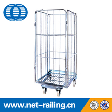 Supermarket foldable nesting roll cage for baja