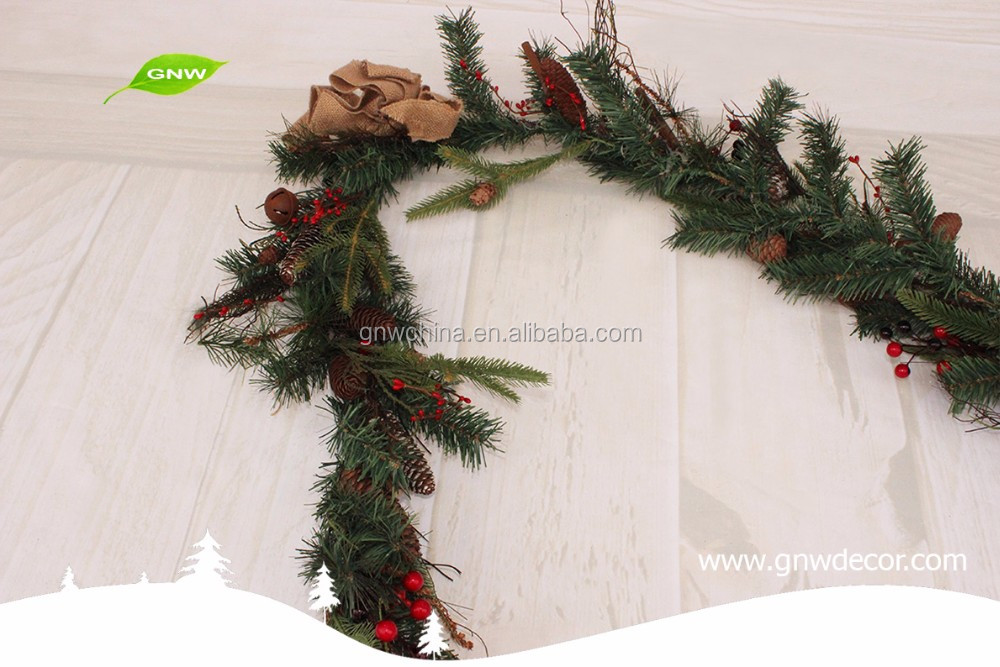 GNW CHGR-1607005 New design Christmas Door Decorative Garland wholesale Christmas garland