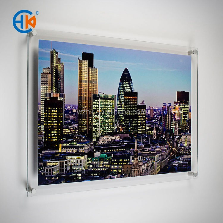 Custom square acrylic a3 wall mounted photo frame