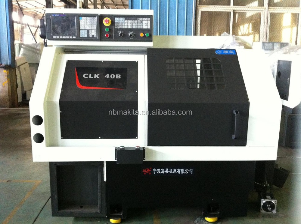 CLK40B high precision fast speed linear rail cnc horizontal lathe machine