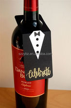 black tie wine bottle tag