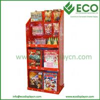 Customized Corrugated Cardboard Display Racks for Gift Card Display Stand