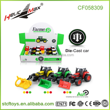 Shantou toys Diecast electric alloy mini car Model Farmer car seeder reaper sprinkler kids outdoor games car toy
