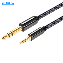 Best quality 6.5MM mono plug to 3.5MM Audio Stereo Cable