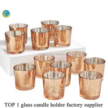 Mercury votive cup set for candle stand