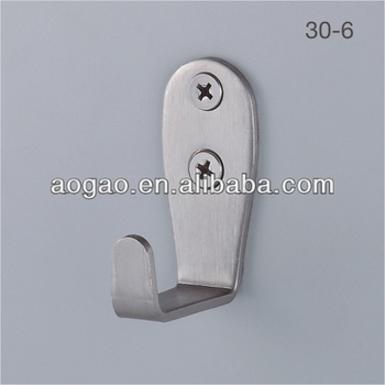 Aogao 30-6 toilet cubicle 304 stainless steel coat hook