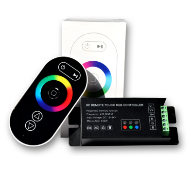 Hot Sale iPhone Style Pack Color Change RGB Strip 433MHz RF Touch Remote LED WIFI Controller for Atmosphere Decoration