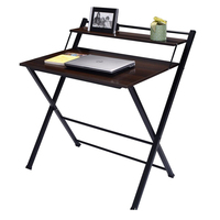 2 -Tier foldable and portable wooden study table design for kids