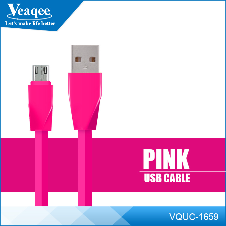 Veaqee micro usb data cable colorful micro usb TPE +PC usb data cable for Iphone 8 X smartphone