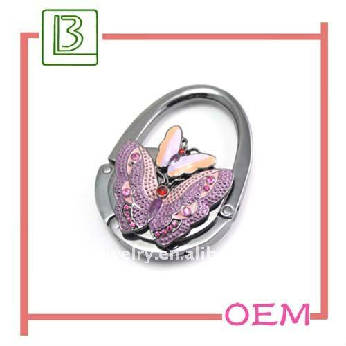 2011 fashion butterfly shape and bag circle purse hook
