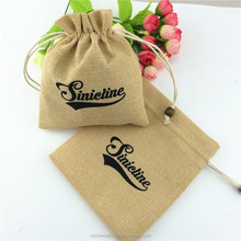 New Fashion Hessian Jute Sack Candy Bag Burlap Wedding Party Gift Favor Bags, screen printed burlap bag