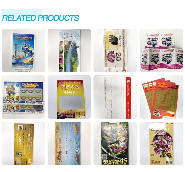 Lottery Ticket Printing Customized 300gsm Paper Scratch Cards Lottery Scratch Off Cards