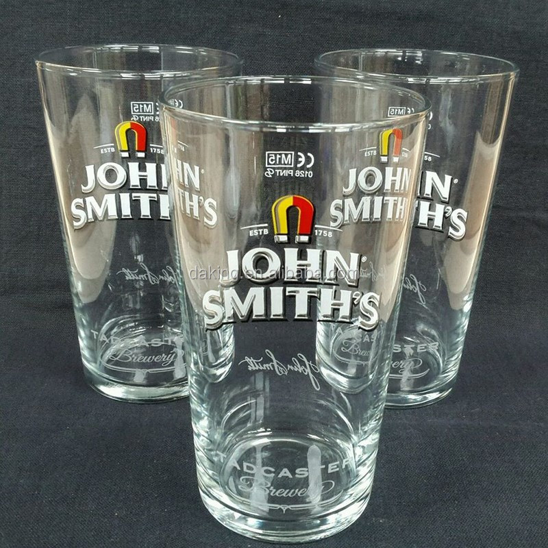 New product transparent 16oz sandblasted pint glass