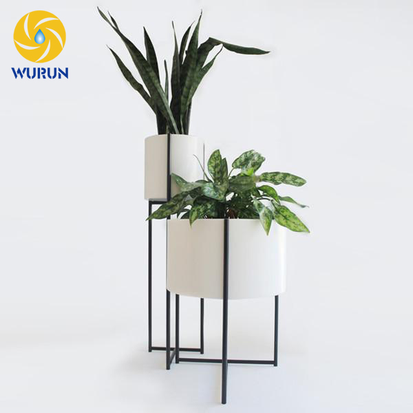 2017 China Manufacture Free Drawing White Round Flower Pot Plantes