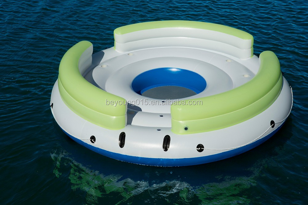 canopy type Giant 5 Person beach inflatable float for adult 7 person inflatable island floating lounge Pool/River/lLake Raft
