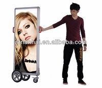 Ultra quality easy to move up floor stand lcd touch screen advertising display Shopping Mall