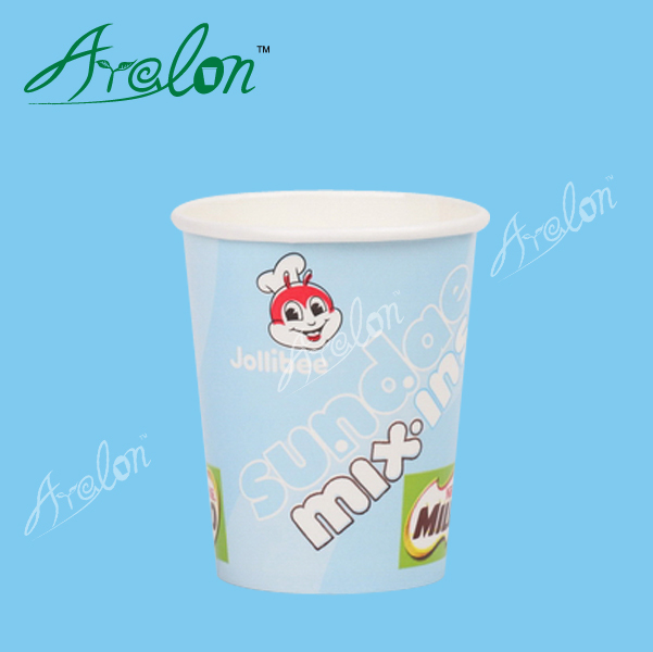 Paper cup design for coffee cup