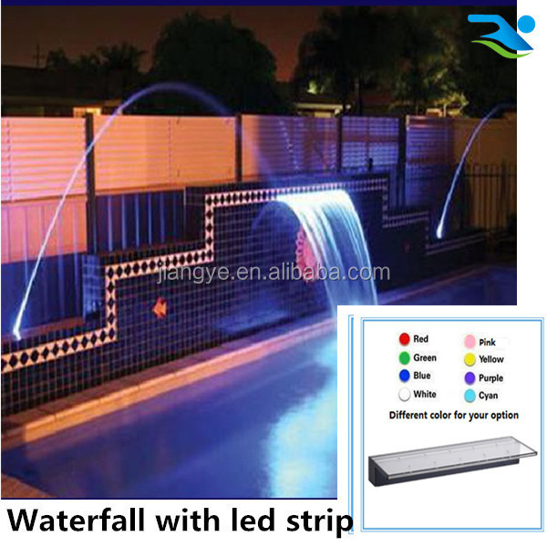 landscape design artificial spillway waterfall,LED strip waterfall
