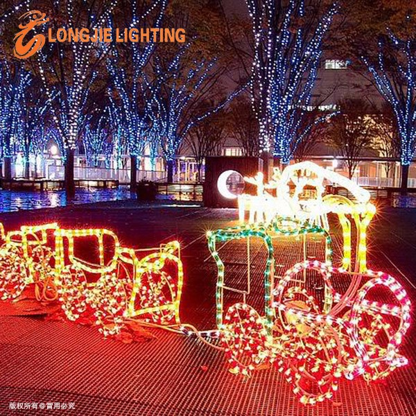 220v 110v 24v 3d Train Christmas Rope Light Led Motif Light - Buy 3d ...