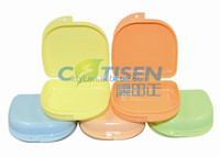 rainbow color denture/retainer/teeth box/case