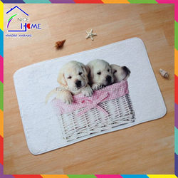 Dog most popular best selling foot mat pet mat animal shape door mat