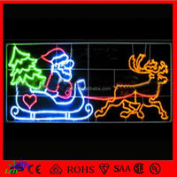 led holiday skylines decorative 2D led Outdoor led Christmas street decorations light city holiday
