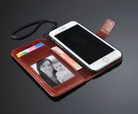 For Iphone 6 4.7Inch Flip Wallet Cell Phone Case Stand Design With Photo Frame Card Phone Bag