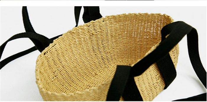 New Style Women Rattan Handbag Fashion Straw Small Tote