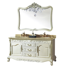 HS-G620 double sink vanity top/ wood double sink vanity/ antique bathroom vanity sets