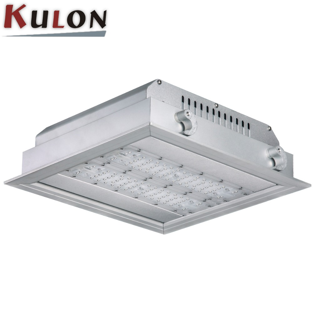 Gas station 100w UL proved led recessed ceiling light