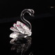 3 Colors Crystal Swan Crafts Handmade Glass Animal Figurines Miniature Home Decor Gifts