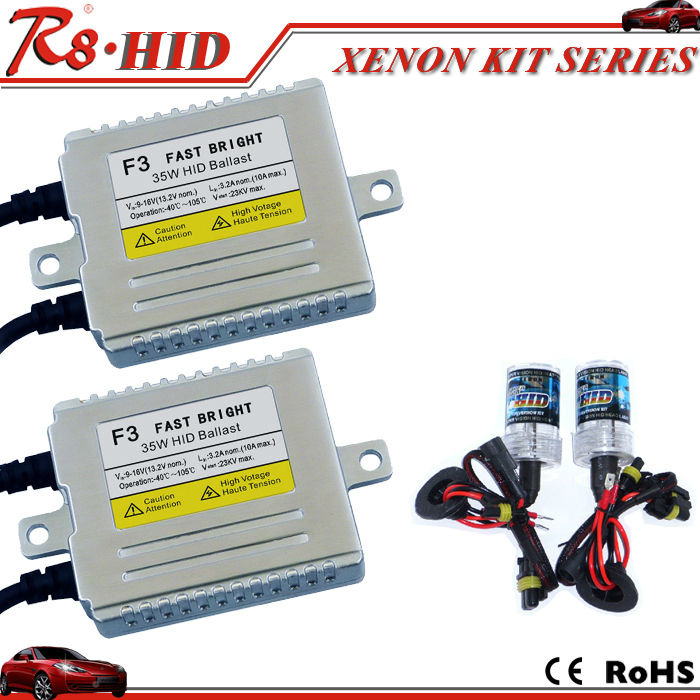F3 35W Fast bright <strong>Xenon</strong> <strong>HID</strong> <strong>kit</strong> <strong>xenon</strong> headlight F5 ballast h1 h3 h4-1 h7 h11 9005 9006 880 single beam <strong>xenon</strong> lamp