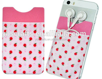 3m sticker mobile phone card holder neoprene cell phone case