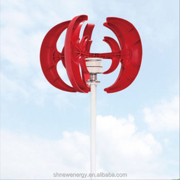 Chinese VAWT 100w red ball small wind turbine generator for sale