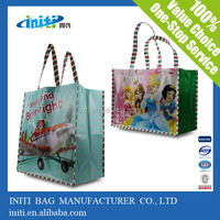 2015 new style cartoon picture printed lady handbag for shopping