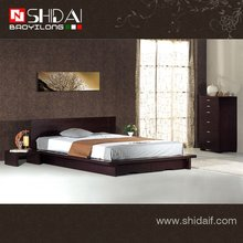 B72 modern low bed /new model design of wood bed / mdf wood bed designs
