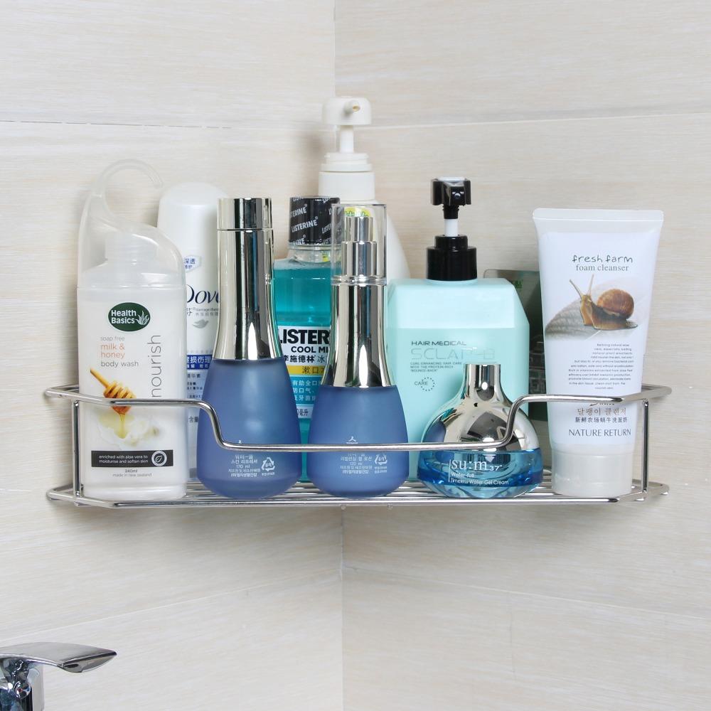 Wall Mounted Stainless Steel Bathroom Shelf Shower Corner Shelf ...